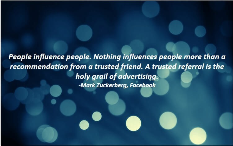 People influence people.