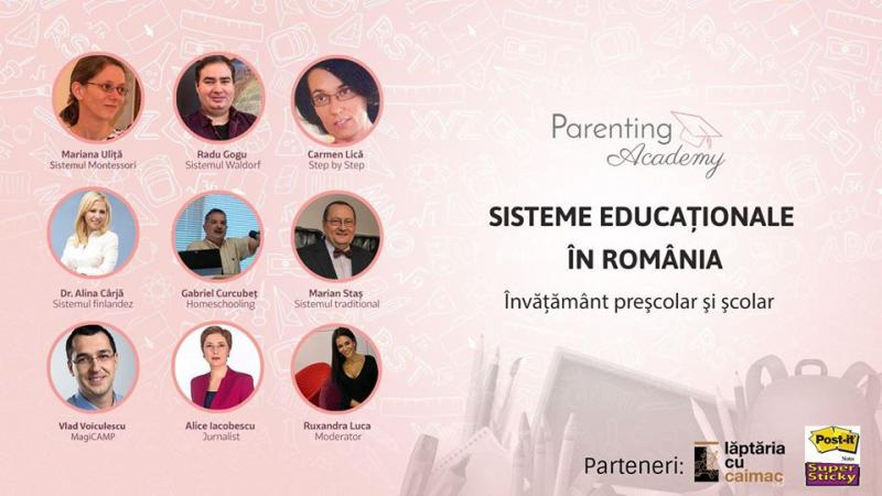 Conferinta - Educatia traditionala si alternativa in Romania